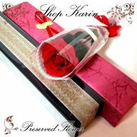 プリザーブドフラワー 一本薔薇 祝電電報父の日 誕生日プレゼント/女性へプロポーズ/発表会に人気 ダイヤモンドローズ/スワロ/メッセージカード