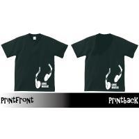 文字変更可能!!(英数文字)LOVE MUSICヘッドホンTシャツ・ブラック|shop-seed|03