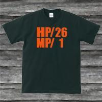 HP・MP Tシャツ・ブラック・プリントオレンジ・瀕死状態|shop-seed|04