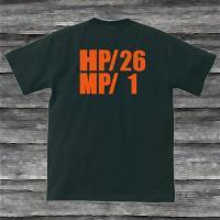 HP・MP Tシャツ・ブラック・プリントオレンジ・瀕死状態|shop-seed|05