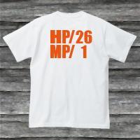 HP・MP Tシャツ・ホワイト・プリントオレンジ・瀕死状態|shop-seed|05