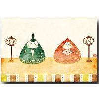 イラストレーターしろたえのおひな様のポストカードは、ひな祭りの贈り物に添えたり、お部屋に飾っても素敵...