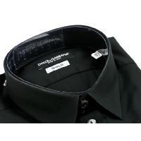 ドルチェ&ガッバーナ カッターシャツ QG5371 25456 80999 ブラック ドレスシャツ