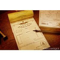 ヴィンテージな雰囲気の領収書 東京アンティーク  海外の古いタイプの伝票をイメージしたおしゃれな領収...