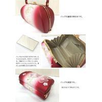 草履バッグセット 草履Mサイズ 赤 桜 雪輪 刺繍 日本製