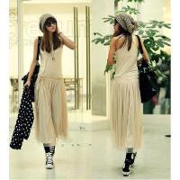 カジュアルなタンクトップスタイルふわっとエレガントなスカートデザインが可愛い♪シンプルでナチュラルな...