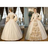 [商品名] ドレス 貴族服装 復古風 現代劇演出服 ヨーロッパ風 女王 シャンパン色  パーティード...