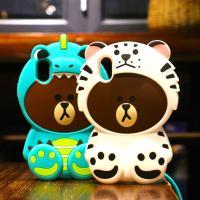 iPhone XS Max XR case アイフォン ケース キャラクター ブラウンクマ シリコン ケース スマホカバー 立体クマ