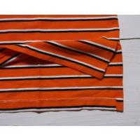 ラルフローレン 半袖 ワンポイント ボーダー 鹿の子 ポロシャツ オレンジ Polo Ralph Lauren 666