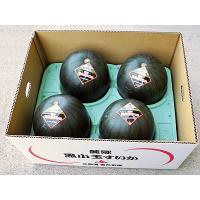 【6月下旬から発送を開始します】 黒小玉スイカは、北海道富良野市の麓郷地域で生産される、黒皮系で紅赤...