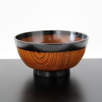 丼麺鉢 塗り分け 小 木製 漆塗り どんぶり めん鉢 お椀 丼