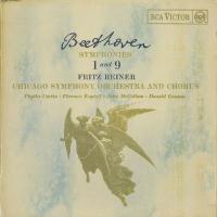 ベートーヴェン:交響曲9番Op.125「合唱」,1番Op.21/F.ライナー指揮シカゴso.cho....