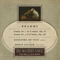 ブラームス:ヴァイオリン・ソナタ1番Op.78,3番Op.108  ジョコンダ・デ・ヴィート(vn)...