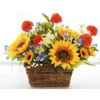 ひまわり 造花 ヒマワリとポンポンマムのアレンジ CT触媒