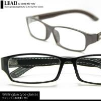 ■商品名■ ウェリントン型伊達メガネ  ■サイズ■ 高さ 約 3.3cm フレーム幅 約 14.5c...