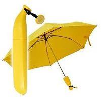 バナナ型の折り畳み傘です。 ※UVカット・撥水加工付き  サイズ:全長 約56.5cm×直径 約88...