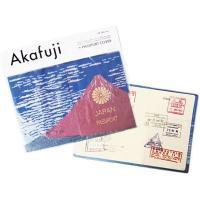 パスポートを入れると、 北斎の赤富士が完成するパスポートホルダー。 日本ならではの商品です。 海外旅...