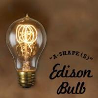 1880年代頃に作られていたエジソン球を復刻した、フィラメントが様々な形をしたタングステン電球「A-...