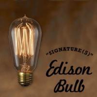 1880年代頃に作られていたエジソン球を復刻した、フィラメントが様々な形をしたカーボン電球「SIGN...