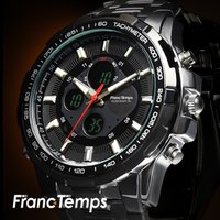 『オンでもオフでもピッタリハマる腕時計』利便性・デザイン性共にアナデジ仕様の良さを 最大限引き出させ...