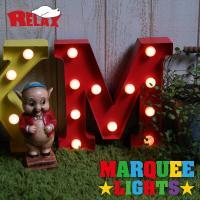 レトロな雰囲気の「RELAX マーキーライト」。 アメリカのホテルや劇場の電光掲示板などに使われてい...