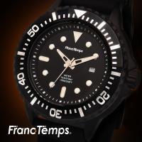 腕時計 メンズ  ダイバーズ 逆回転防止ベゼル、10気圧防水機能、カレンダーも搭載のダイバーズウォッ...