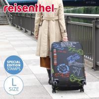 □旅心をくすぐるエアメールの消印と飛行機モチーフが360°全面にプリントされたスーツケース。みんなの...