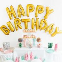 ・HAPPY BIRTHDAY アルファベット型 バルーン ・サイズ:縦≒36cm×横≒33cm(文...