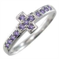 地金素材:Pt900 (品質を保証する刻印が入っています) 使用宝石:アメシスト(紫水晶)  13ピ...