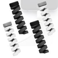 ライトニングケーブルバイト iPhone ケーブルLightningケーブル 断線防止 ケーブルガード 保護 プロテクター 4個セット ツイスト ブラック、グレー