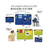 デジタル小物 PC機器 タブレットPC スマホ 収納ケース フラットなバッグインバッグ 鞄の中を整理整頓 【ブルー グリーン 2色セット】