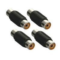 RCA端子のプラグ(オス)同士を接続するための中継コネクタです。 防犯カメラや車載カメラのケーブルを...