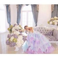 ウェディングドレス カラードレス ロング パーティードレス 大きいサイズ 結婚式 二次会