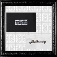 MAD HATTER logo-box- L/S shirt(ブラック&ホワイト)