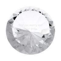 光があたるとキラキラ輝くダイヤモンド型のガラスオブジェ。直径15cmの存在感のある特大ダイヤです。 ...