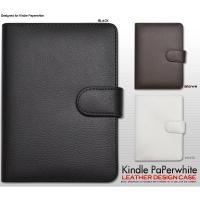 Kindle Paperwhite ケース レザーデザインケース カバー Amazon アマゾン キ...