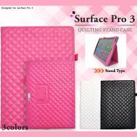Microsoft Surface Pro3 ケース キルティングレザーケース カバー サーフェス ...