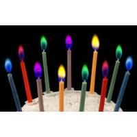 誕生日 クリスマス ケーキ用ろうそく カラーフレームバースデーキャンドル 5色セット×2セット (合計10本) カラフルカラーの炎