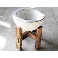 材質 石臼:花崗岩 白御影  仕上方法  石臼:天板(本磨き)内側(水磨き) 外側 小叩き