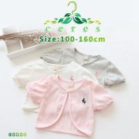 半袖カーディガン キッズ 女の子 レース 白 ピンク 薄手 夏 子供服 韓国子供服