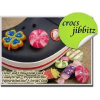 メール便可  crocs jibbitz ジビッツ (クローバー)(fポテト)(ストライプ)(黄緑色)(ピンク)(ピンク/紫)アクセサリー クロックス ジビッツ