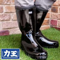 力王 B-015 軽半長靴 DRY / RIKIO レインブーツ 黒 BLACK ミドル丈 ラバーブーツ 長靴 登山 山登り 防災