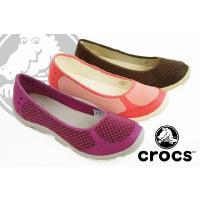 【crocs(クロックス)】  15375 デュエット ビジーデイ バレエ フラット ウィメン☆  ...