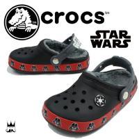 クロックス crocs クロックバンド ダースベイダー ラインドクロッグ   16337 男の子 子...