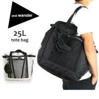 アンドワンダー and wander トートバッグ 手提げ 25L tote bag AW-AA730 【カバン】