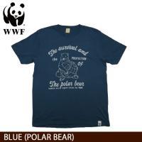 WWF/世界自然保護基金 Tシャツ S/S TEE WWF/BLUE (POLAR BEAR)