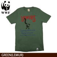 WWF/世界自然保護基金 Tシャツ S/S TEE WWF/GREEN(LEMUR)