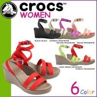 商品説明  【多種多彩なラインナップが魅力の「crocs」!!】 ・キャンバス素材のストラップが印象...