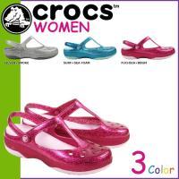 商品説明  【多種多彩なラインナップが魅力の「crocs」!!】 ・フェミニンなデザインが施された柔...
