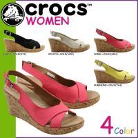 商品説明  【多種多彩なラインナップが魅力の「crocs」!!】 ・アッパーにリネン素材を、サイドに...